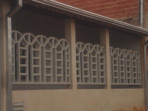 Grade de concreto Janelas